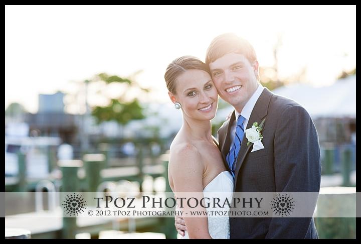 Bride & groom at Annapolis Maritime Museum Wedding