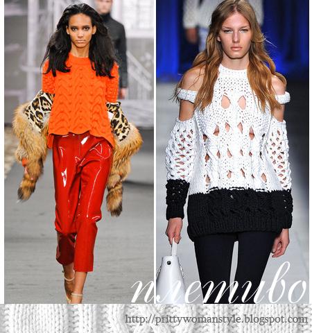 Мода 2013 Плетиво - жилетки, пуловери