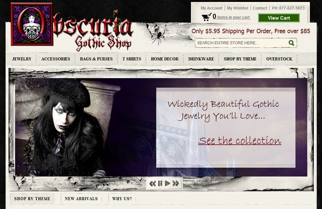 Vampire Jewelry from Obscuria.com
