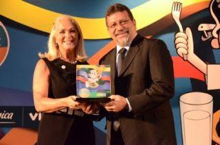 Secretária de Educação Eloiza Viana e o Ministro do Desenvolvimento Agrário, Afonso Florence