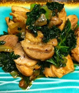 Sesame Oil Chicken with Kale