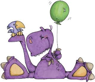Imagem para decoupage de dinossauro