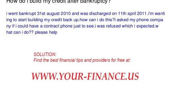 Credit History - How Do I Build My Credit