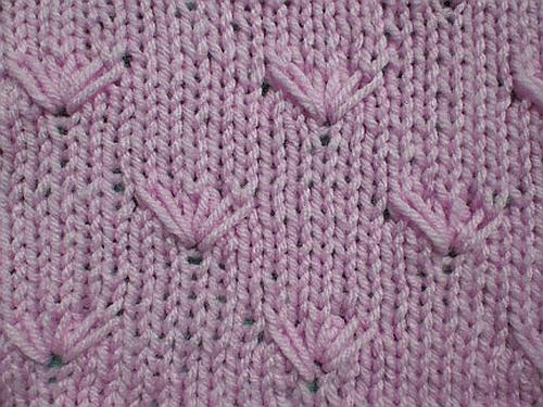 Design Knitting Patterns : Knitting Galore: Saturday Stitch: Daisy Stitch