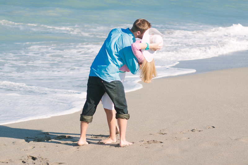 beach engagement south florida photo