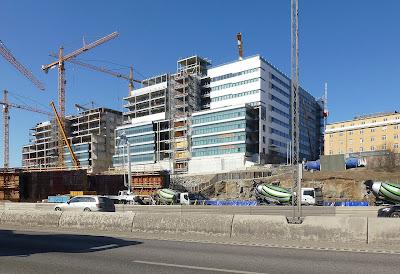 Byggandet av Nya Karolinska Solna. Foto: Holger Elgaard (CC BY-SA)