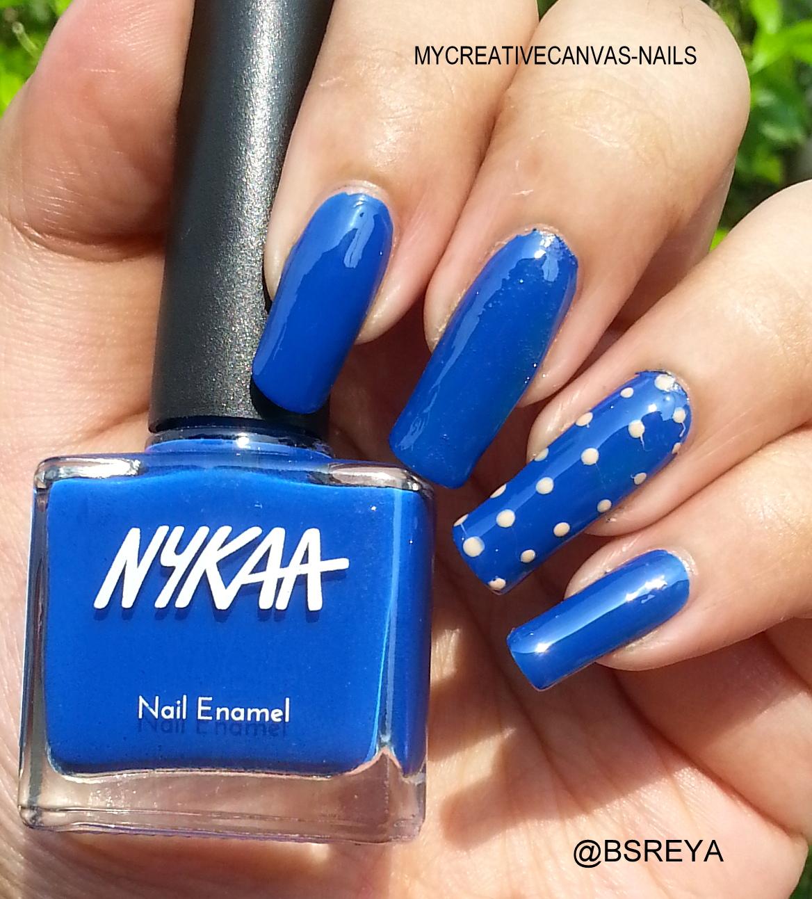MY CREATIVE CANVAS - NAILS : NAIL ENAMEL FROM NYKAA !!
