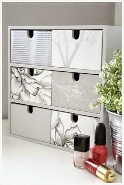 5 ideas decorativas con decoupage 4brujillasymedia - Cajoneras decoradas ...
