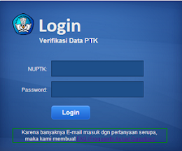 VERIFIKASI DATA PTK GURU