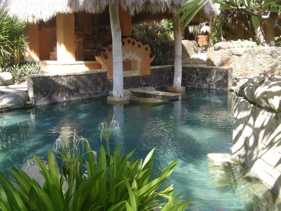 Un estanque del hotel