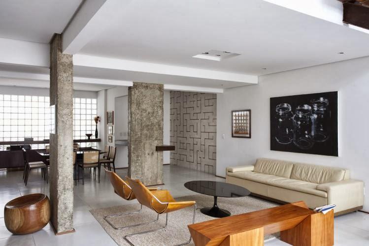 Colunas e vigas vela ou revela decorsalteado - Como decorar una columna en el salon ...