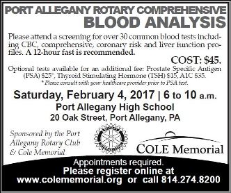 2-4 Port Allegany Rotary Blood Analysis