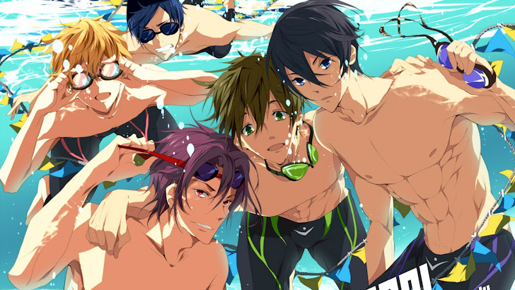 Free Anime Iwatobi Swim Club. Anime boys underwater goggles