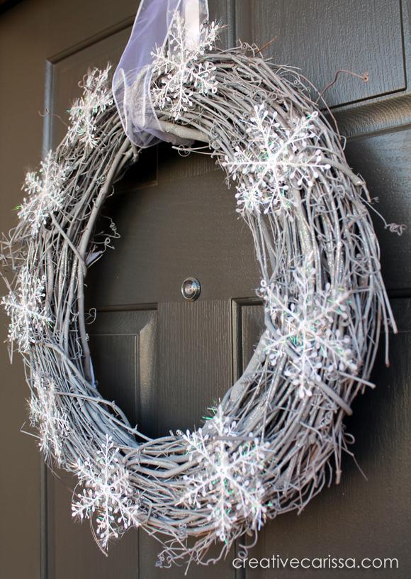 How To Make A Snowy Diy Winter Wreath Creative Green Living