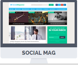 social media blogger template