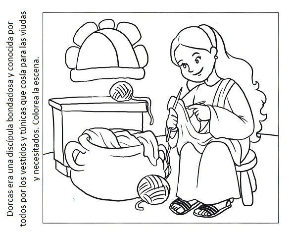 Free Coloring Pages Of Peter And Dorcas Dorcas Coloring Page