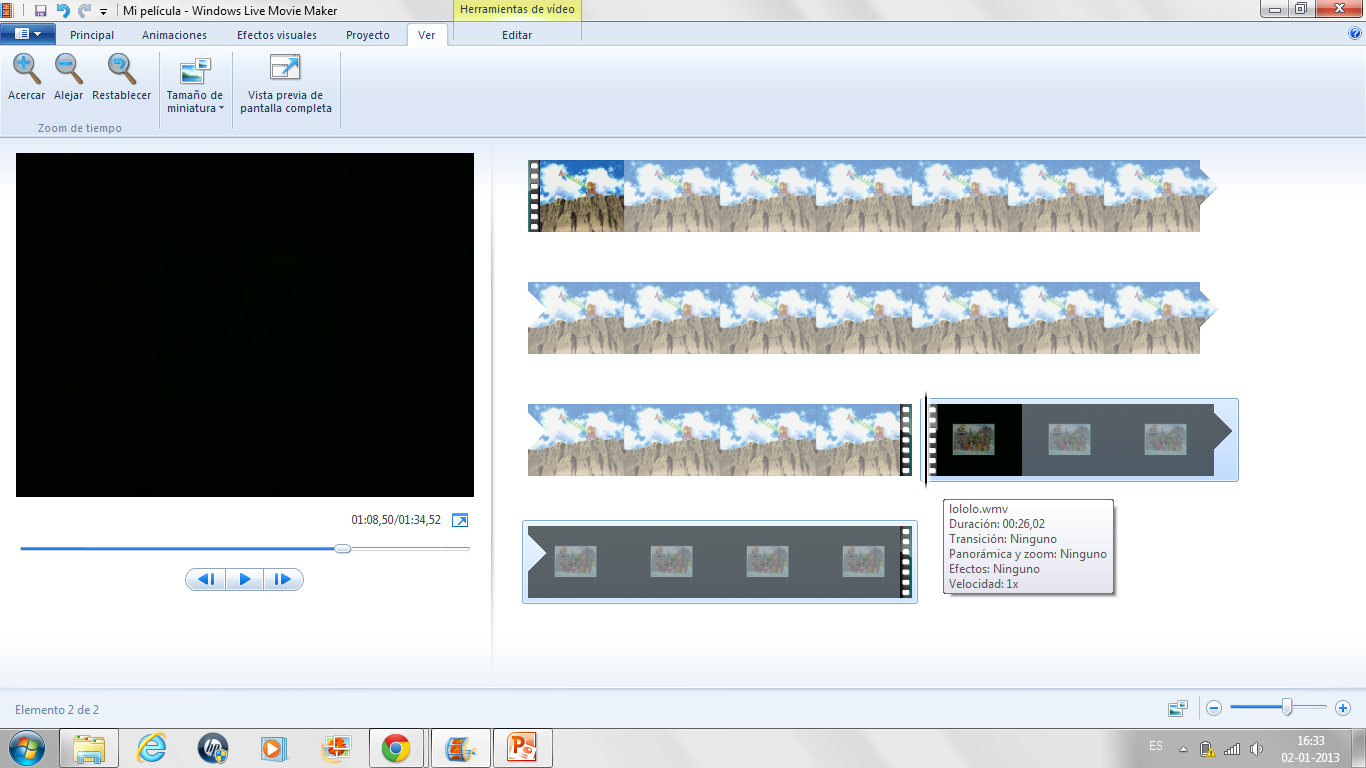how to add two pictures together in windows movie maker