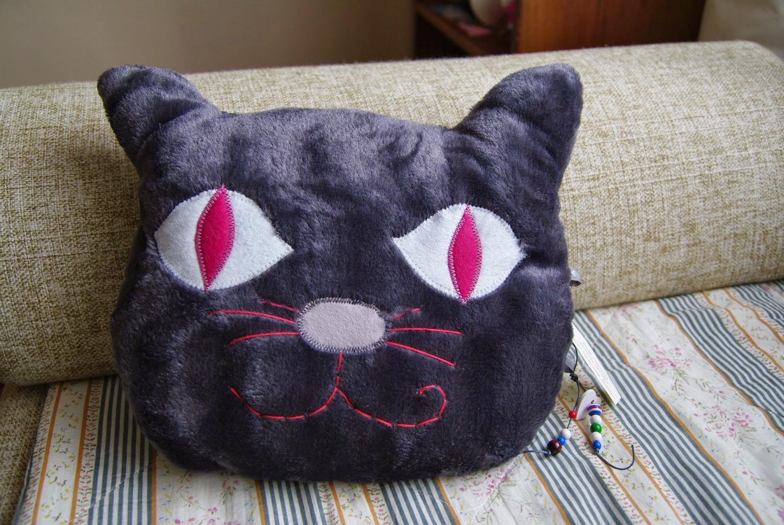 poduszka w kształcie głowy kota
