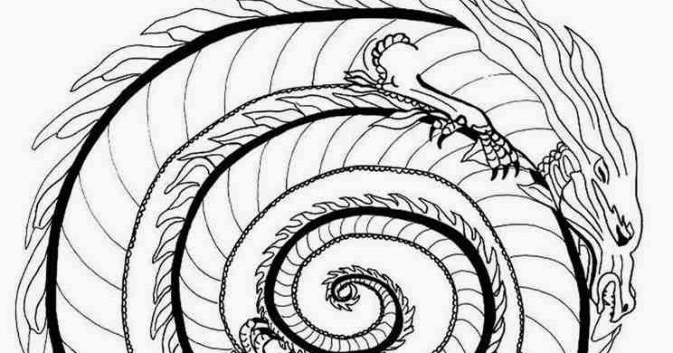 Animal Fire Dragon Mandala Coloring Pages