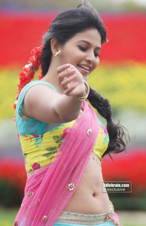 Anjali half saree navel