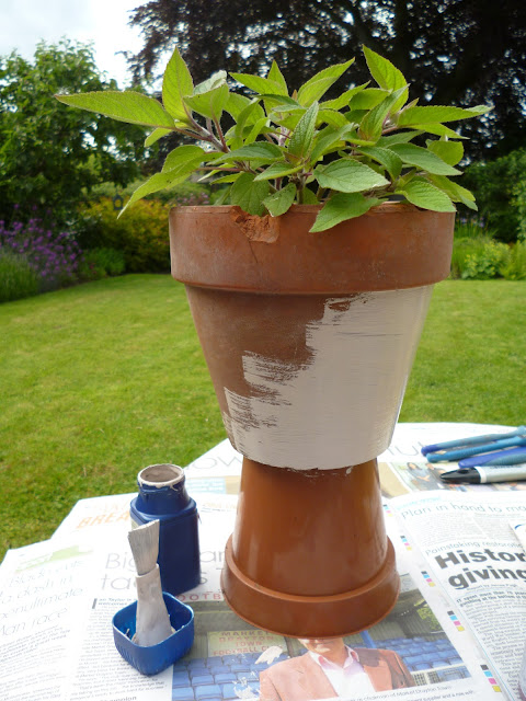 Painting your plant pot