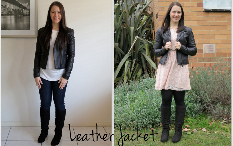 petite outfits, black studded leather jacket, most worn winter clothes, jeans and boots, lace dress