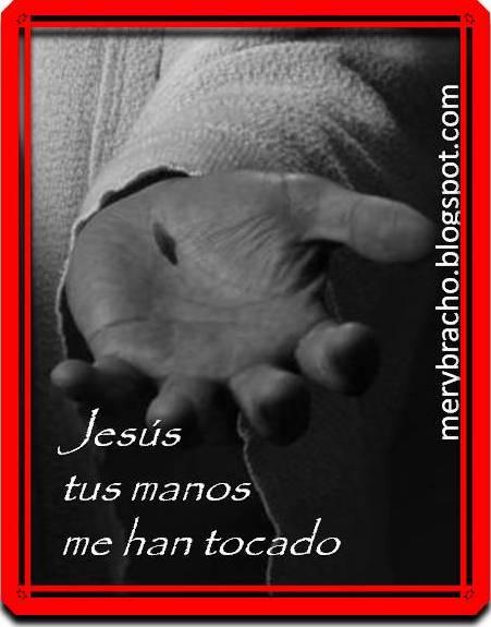 Gracias Jesús por darme la vida, Jesús tus manos me han tocado. Tú me has tocado Señor, Jesús, Cristo, Salvador. Jesús tus manos me han sanado. Señor me has tocado con tus manos preciosas. Acepto tu sacrificio de amor por mi Cristo. Gracias por hacer mi vida pura Jesucristo. Poema de Semana Santa. Poesía corta para niños y adultos para actos de semana santa, para la iglesia, la escuela.