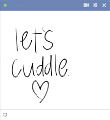 Let's Cuddle Facebook Emoticon