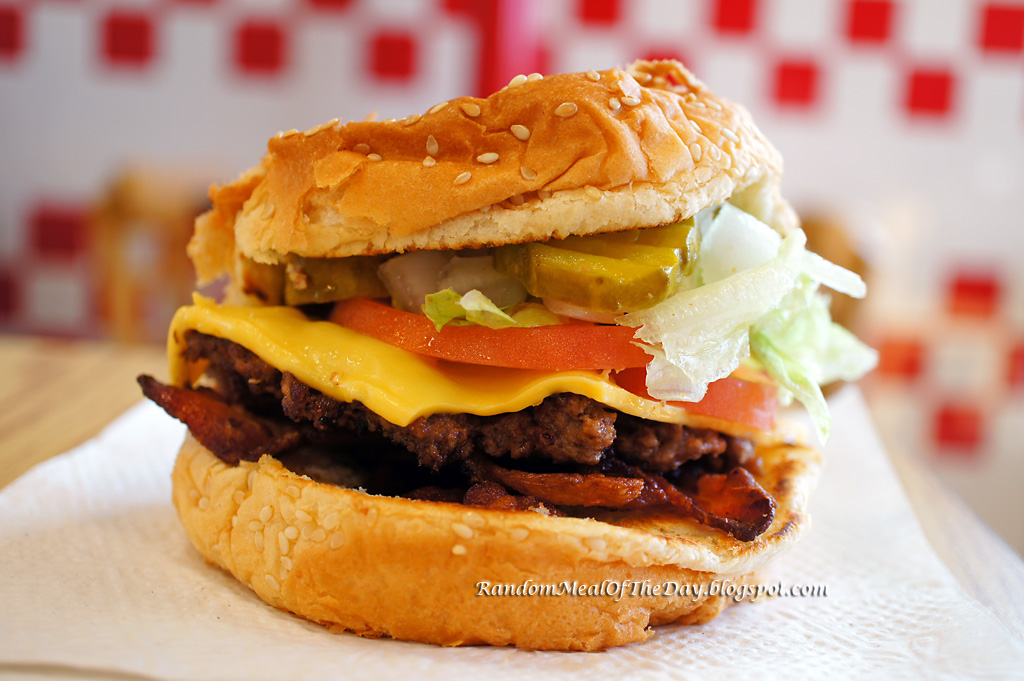 Little Bacon Cheeseburger At Five Guys Burgers And Fries
