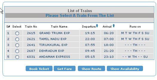 Indian Railways Booking On Indian Railways Reservation