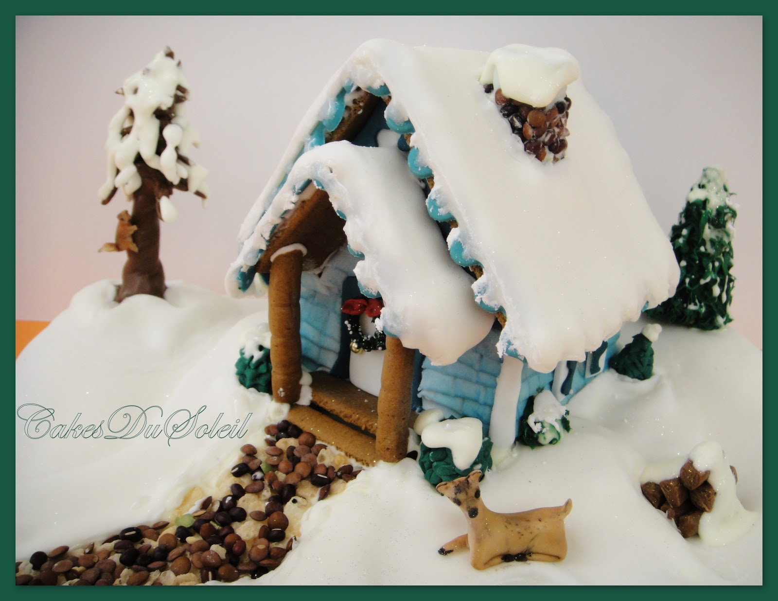 This is the first in a series of three Gingerbread House Tutorials.