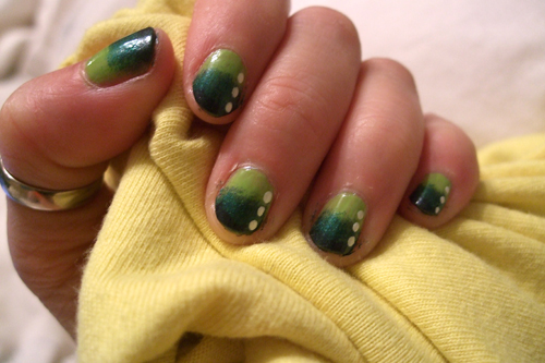 Green Nail Art Designs 2