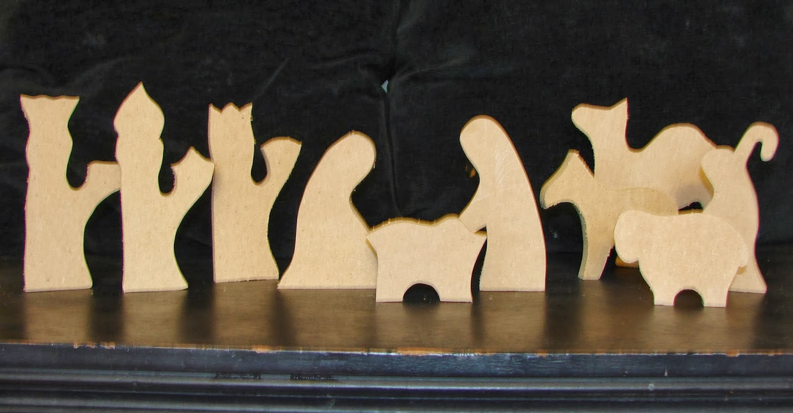 Wood you like to craft nativity set from under my umbrella for Nativity cut out patterns wood