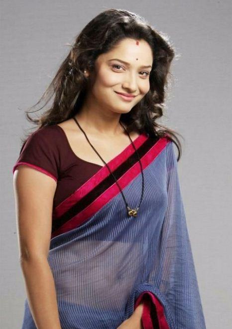 Ankita Lokhande in SareeAnkita Lokhande Black Saree