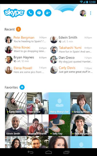 Skype Android Apk resimi 3