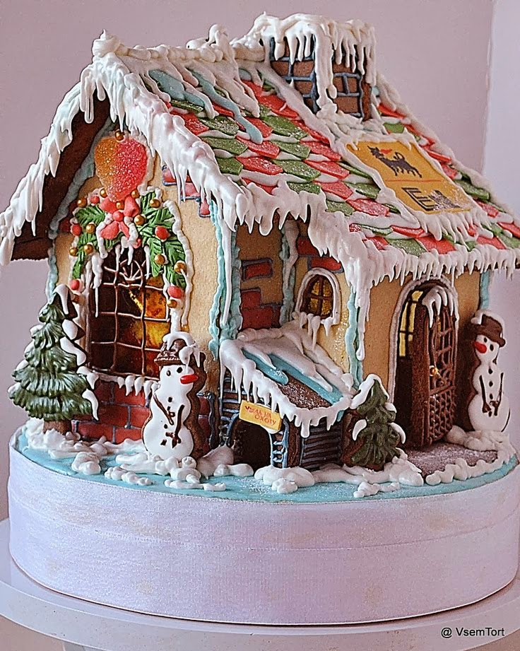 This Old House Contestant Gingerbread art House At Cake Central