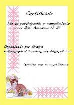 CERTIFICADO PARTICIPACION RETO AMISTOSO 13