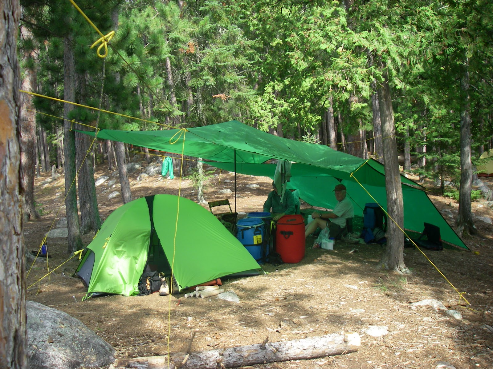 Twin Rain Tarps In The BWCA These Are From Cooke Custom Sewing