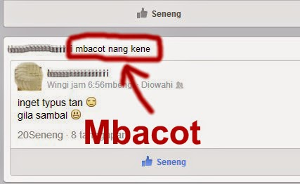 Terdapat Bahasa Jawa Mbacot di Facebook