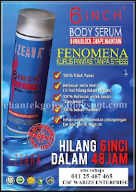 IZEARA 6 INCH BODY SERUM 100% ORIGINAL DAN MURAH!