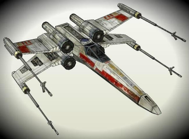 papermau star wars x wing t 65 starfighter paper model by noturno sukhoi. Black Bedroom Furniture Sets. Home Design Ideas
