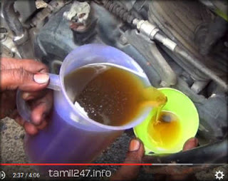 replace new engine oil in drowned bike affected in chennai floods repair bike tips in tamil