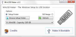 bootable usb windows 7 with winUsb making