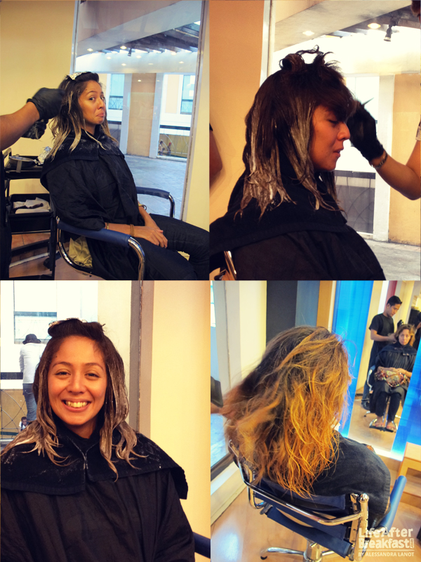 Life after breakfast dip dyed and ombre hair at azta for Nikki o salon lagos