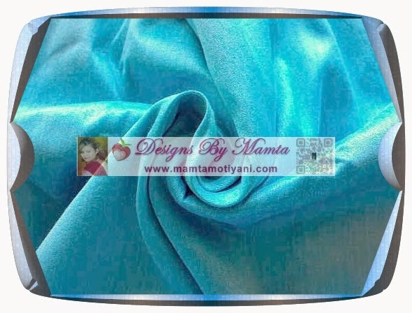 Green Blue Silk Fabric