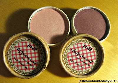 "P2 Limited Edition eyeshadows ""wiesn gaudi"" in 010 vergissmeinnicht and 020 alpenrose"