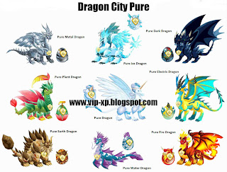 Cara Mendapatkan Pure Dragon, Pure Dragon City, Cheat Pure Dragon City, vip xp