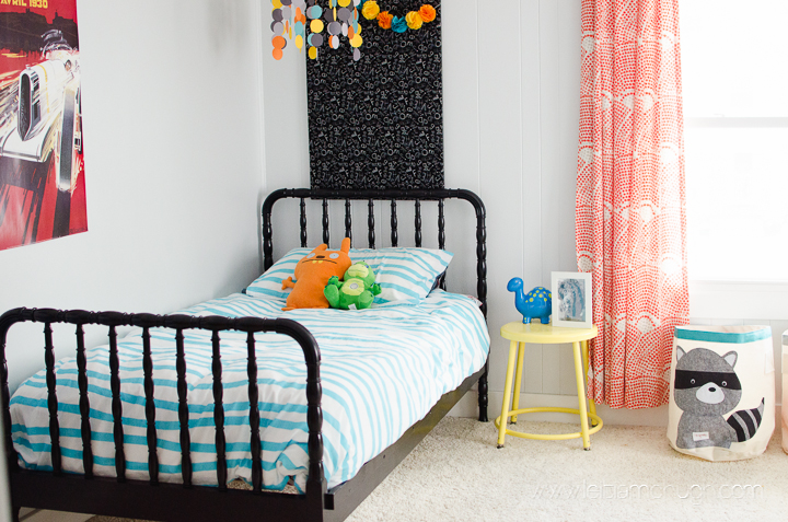 big boy room in our current house with special focus on the jenny lind bed all nicely painted black you can see his nursery in our first house here - Jenny Lind Bed