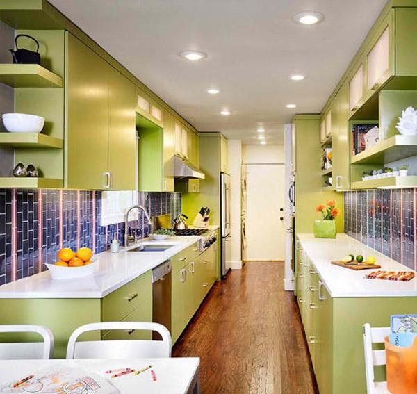 Kitchen Set Nuansa Hijau: 20+ Dapur Cantik Minimalis Bertema Hijau