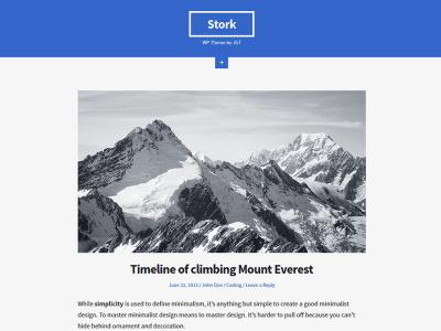 Stork WordPress Theme